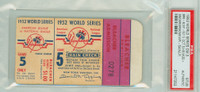 1952 World Series Dodgers at Yankees - Game 5 Ticket Stub BRK 6-5 (11) HR Duke Snider, Johnny Mize WP Carl Erskine [VG] [Y52_SERIES525S_pa_52]