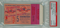 1958 World Series Braves at Yankees - Game 5 Ticket Stub NY 7-0 WP Bob Turley LP Lew Burdette HR Gil McDougald [GOOD] [Y58_SERIES585S_pa_bl]