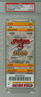 2000 Cleveland Indians Full Ticket vs Oakland Athletics Mark Mulder Major League Debut - April 18, 2000 PSA 6