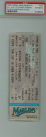 2000 Florida Marlins Full Ticket vs Arizona Diamondbacks Randy Johnson Career Strikeout #300, #300 in 2000 - September 10, 2000 PSA AUTH