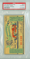 1947 Indianapolis 500 Ticket Stub - Mauri Rose May 30 1947 PSA/DNA Authentic