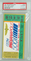 1981 Indianapolis 500 Ticket Stub - Bobby Unser May 24 1981 PSA/DNA Authentic