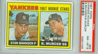 1967 Topps Baseball 93 Yankees Rookies PSA 8 Near Mint to Mint