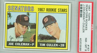 1967 Topps Baseball 167 Senators Rookies PSA 8 Near Mint to Mint