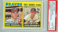 1967 Topps Baseball 179 Braves Rookies PSA 8 Near Mint to Mint
