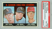 1967 Topps Baseball 233 AL ERA Leaders