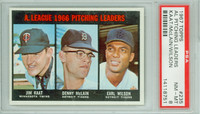 1967 Topps Baseball 235 AL Pitching Leaders PSA 8 Near Mint to Mint