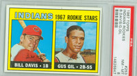 1967 Topps Baseball 253 Indians Rookies PSA 8 Near Mint to Mint