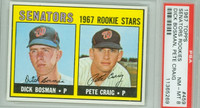 1967 Topps Baseball 459 Senators Rookies Semi High Number PSA 8 Near Mint to Mint