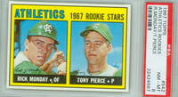 1967 Topps Baseball 542 Athletics Rookies High Number PSA 8 Near Mint to Mint