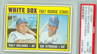 1967 Topps Baseball 598 White Sox Rookies High Number Single Print PSA 8 Near Mint to Mint