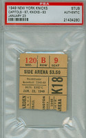 1949 New York Knicks Ticket Stub vs Washington Capitols  - January 23, 1950 PSA/DNA Authentic