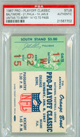 1967 Baltimore Colts Ticket Stub vs Philadelphia Eagles Johnny Unitas TD to Raymond Berry - Colts 21-14  January 8, 1967 PSA/DNA Authentic
