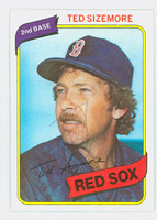 Ted Sizemore AUTOGRAPH 1980 Topps #81 Red Sox   [SKU:SizeT428_T80BB]