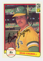 Brian Kingman AUTOGRAPH 1982 Donruss #87 Athletics 