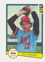 Pete Redfern AUTOGRAPH 1982 Donruss #51 Twins 