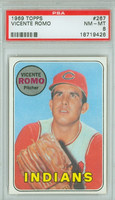 1969 Topps Baseball 267 Vincente Romo Cleveland Indians PSA 8 Near Mint to Mint