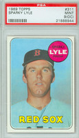 1969 Topps Baseball 311 Sparky Lyle ROOKIE Boston Red Sox PSA 9 OC