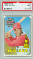 1969 Topps Baseball 579 Dave Nelson Cleveland Indians PSA 9 Mint