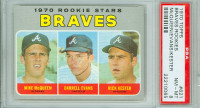 1970 Topps Baseball 621 Braves Rookies Semi High Number PSA 8 Near Mint to Mint