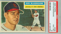 1956 Topps Baseball 309 Don Blasingame ROOKIE St. Louis Cardinals PSA 8 Near Mint to Mint