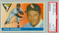 1955 Topps Baseball 146 Dick Donovan Chicago White Sox PSA 8 Near Mint to Mint