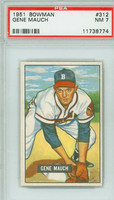 1951 Bowman Baseball 312 Gene Mauch ROOKIE High Number Boston Red Sox PSA 7 Near Mint