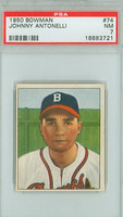 1950 Bowman Baseball 74 Johnny Antonelli ROOKIE Boston Braves PSA 7 Near Mint