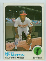 Leroy Stanton AUTOGRAPH 1973 Topps #18 Angels   
