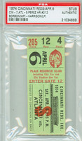 1974 Cincinnati Reds Ticket Stub vs Atlanta Braves Tony Perez Career HR #212 - April 6, 1974 PSA/DNA Authentic