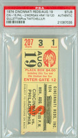 1974 Cincinnati Reds Ticket Stub vs Philadelphia Phillies Mike Schmidt Career HR #49 Joe Morgan 2 HRS - #119-#120  - August 19, 1974 [Y74_Reds0819S_pa_1] PSA/DNA Authentic