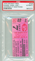 1979 Cincinnati Reds Ticket Stub vs Los Angeles Dodgers Joe Morgan Career Hit #2000 - September 7, 1979 PSA/DNA Authentic