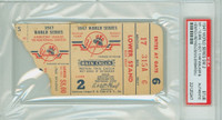 1947 World Series Dodgers at Yankees - Game 2 Ticket Stub HR Dixie Walker, Tommy Henrich WP Allie Reynolds [Y47_SERIES472S_pa_47] PSA/DNA Authentic
