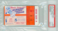 1957 World Series Braves at Yankees - Game 5 Ticket Stub MIL 1-0 WP Lew Burdette CG Shutout LP Whitey Ford [Y57_SERIES575S_pa_84] PSA/DNA Authentic