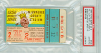 1958 World Series Yankees at Braves - Game 2 Ticket Stub MIL 13-5 HR Mickey Mantle 2 HRs #10 - #11 [Y58_SERIES582S_pa_75] PSA/DNA Authentic