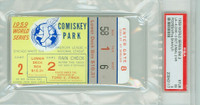 1959 World Series Dodgers at White Sox - Game 2 Ticket Stub LA 4-3 WP Podres HR Neal, Essegian [Y59_SERIES592S_p5_17] Excellent