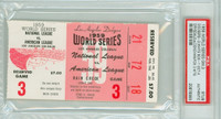 1959 World Series White Sox at Dodgers - Game 3 Ticket Stub LA 3-1 Nellie Fox 3 Hits [Y59_SERIES593S_pa_95] PSA/DNA Authentic