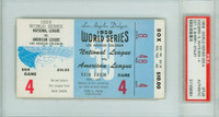 1959 World Series White Sox at Dodgers - Game 4 Ticket Stub LA 5-4 Sherry vs Staley [Y59_SERIES594S_pa_64] PSA/DNA Authentic