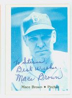 Mace Brown AUTOGRAPH d.02 TCMA 1941 Brooklyn Dodgers 