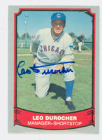 Leo Durocher AUTOGRAPH d.91 1988 1988|89 Pacific Legends Cubs 