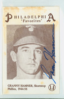 Granny Hamner AUTOGRAPH d.93 1977 Third Annual Philly Card Show Phillies 