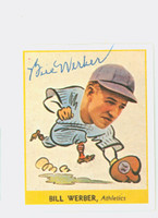Bill Werber AUTOGRAPH d.09 Pre-War Reprints 1938 Goudey Athletics 