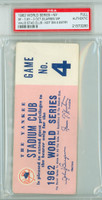 1962 World Series Giants at Yankees - Game 4 Stadium Club Pass SF 7-3 WP Don Larsen LP Jim Coates [Y62_SERIES624P_pa_60] PSA/DNA Authentic