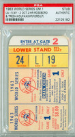 1963 World Series Dodgers at Yankees - Game 1 Ticket Stub LA 5-2 WP Sandy Koufax LP Whitey Ford [Y63_SERIES631S_pa_82] PSA/DNA Authentic