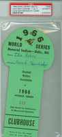 1966 World Series Orioles vs Dodgers Clubhouse Pass Memorial Stadium Games 3-4 [Y66_SERIES660P_pa_91] PSA/DNA Authentic
