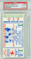1967 World Series Cardinals at Red Sox - Game 1 Ticket Stub WP Bob Gibson [Y67_SERIES671S_pa_04] PSA/DNA Authentic