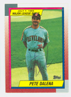 Pete Dalena AUTOGRAPH 1990 Topps Indians Major League Debut 