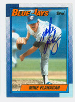 Mike Flanagan AUTOGRAPH d.11 1990 Topps Blue Jays 