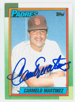Carmelo Martinez AUTOGRAPH 1990 Topps Padres 