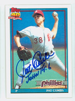 Pat Combs AUTOGRAPH 1991 Topps Phillies 